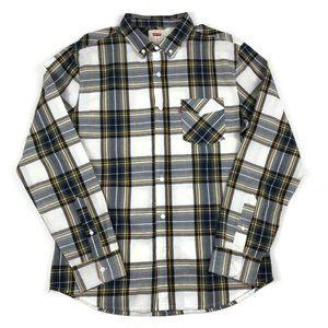 Levi's Plaid Long Sleeve Button Down Shirt Medium